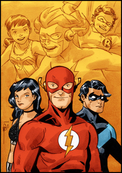 Flash Friday with Wally, Donna, and Dick by Evan Shaner