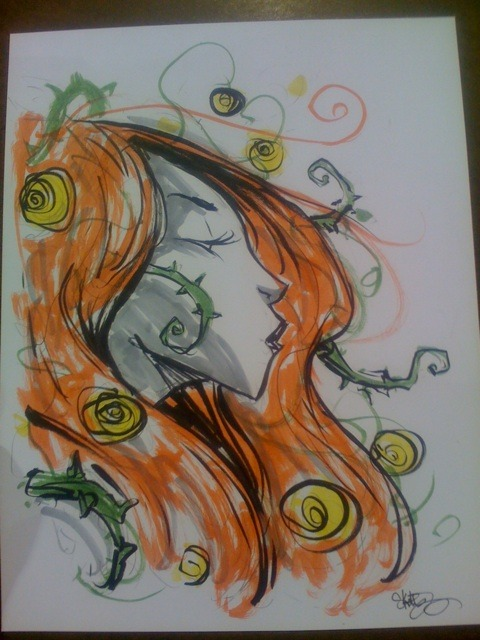 Poison Ivy con sketch by Skottie Young