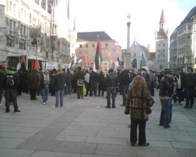 Small Palestinian demonstration in Munich