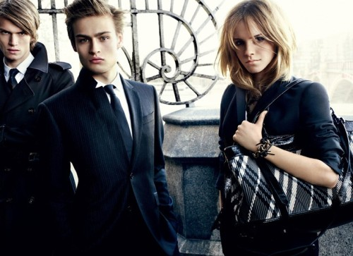Emma Watson for Burberry Winter.  She rocks this look!