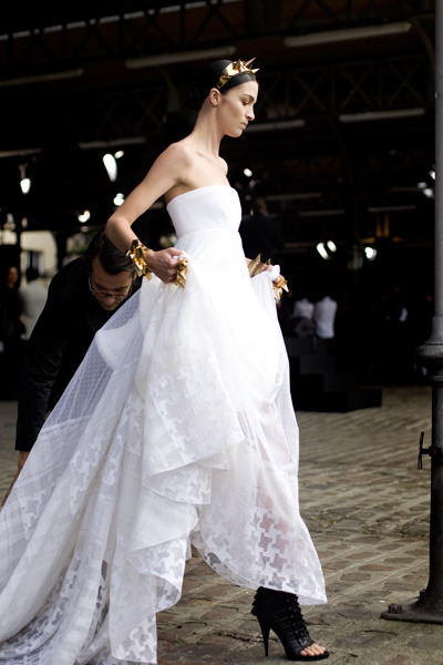 Givenchy Haute Couture F/W 2009. Are those the modern day wedding shoes? Fierce!