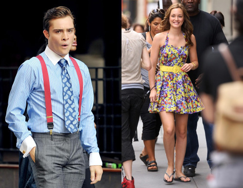 giodion:  Ed Westwick and Leighton Meester on set for Gossip Girl season 3. Oh how fun it probably is to be the stylist on that show. (via SpoilerTV)