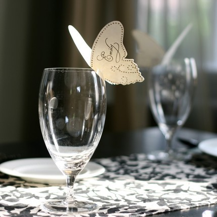 Butterfly Place Cards  great idea